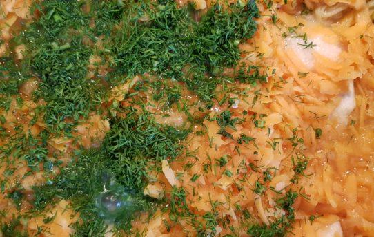 Piersi kurczaka w sosie koperkowo-batatowym